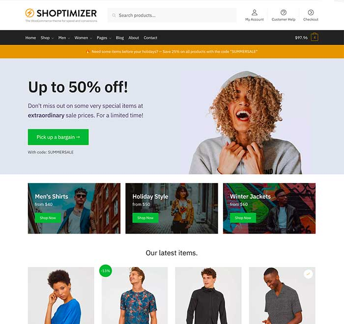Shoptimizer WooCommerce Theme screenshot