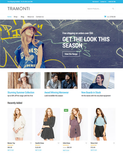 Tramonti WooCommerce Theme