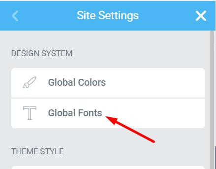 Global Fonts