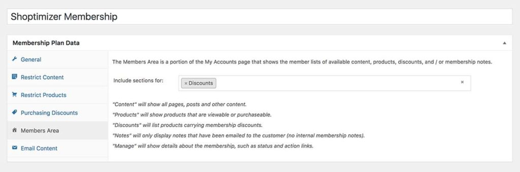 Displaying discounts within the My Account section for members