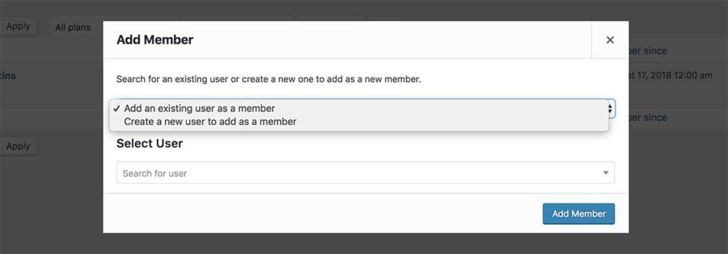 Adding members manually