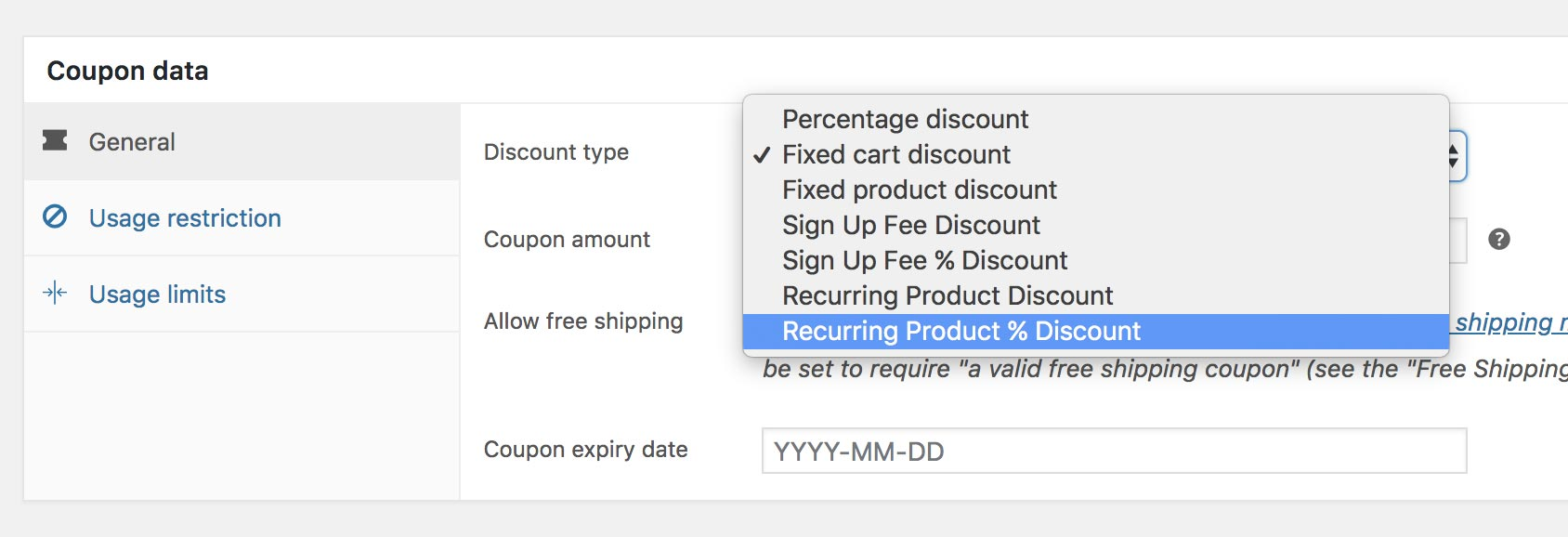 You can create a discount coupon based on a subscription