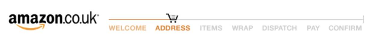 Amazon's checkout progress bar