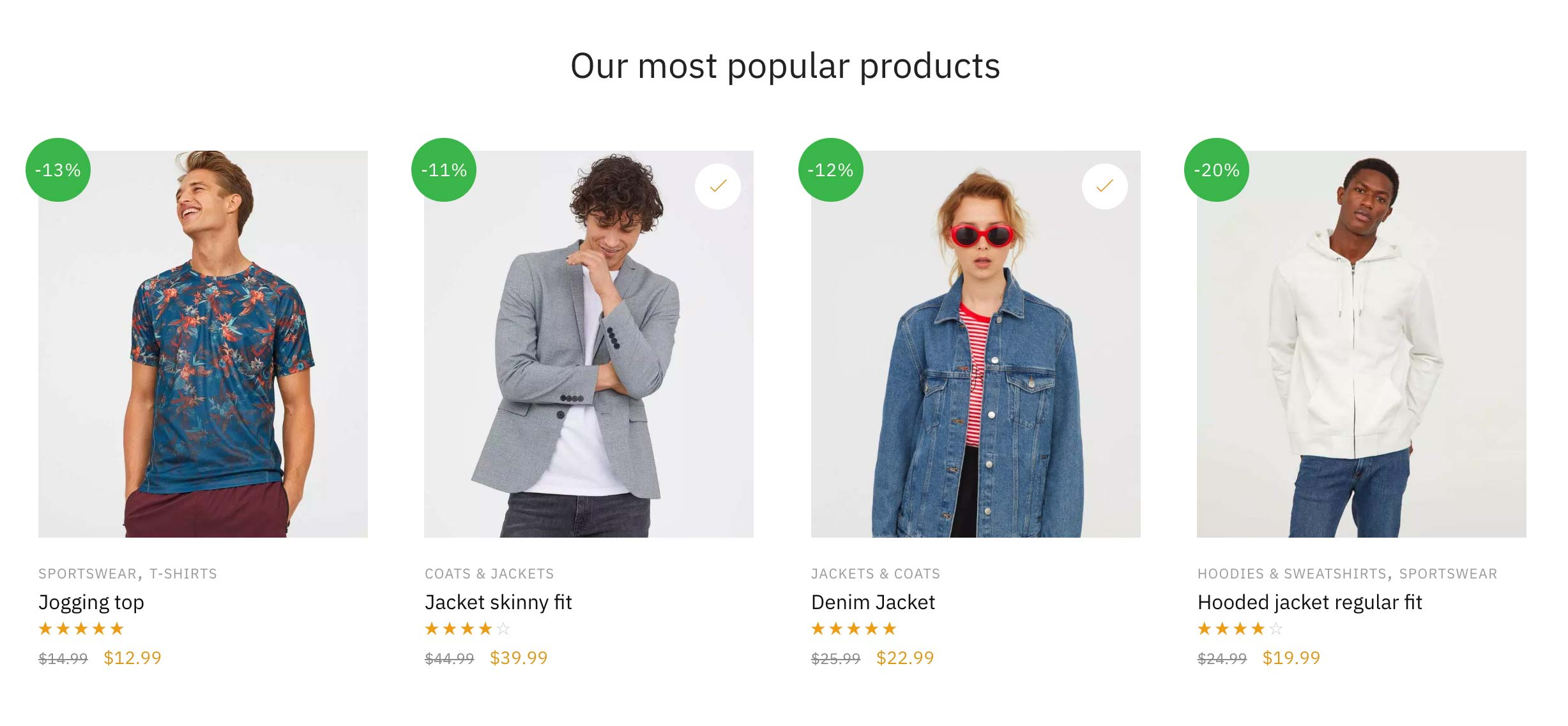 Displaying the most popular products in your store