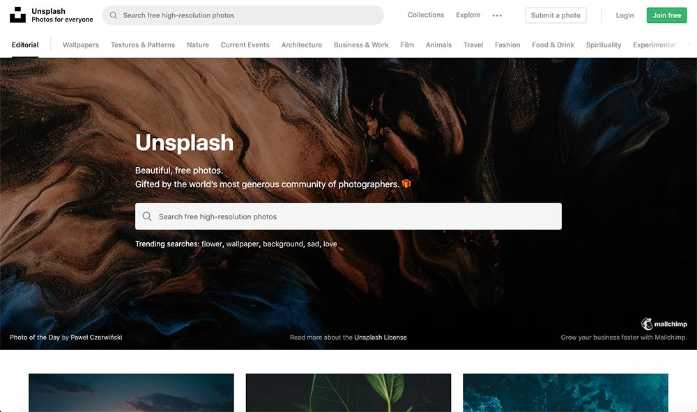 Unsplash Stock Photos