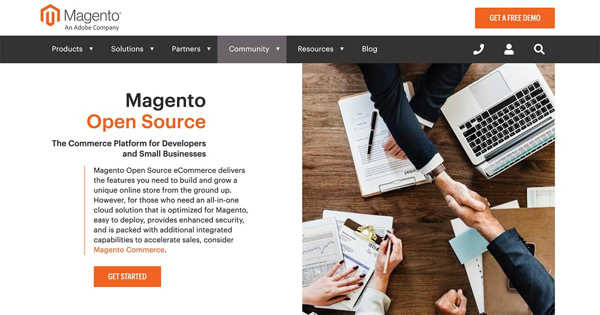 Magento Opensource eCommerce