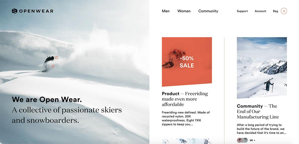 WooCommerce Examples - Open Wear