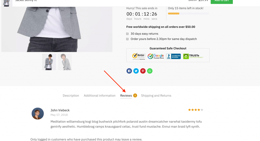 WooCommerce Customer Review