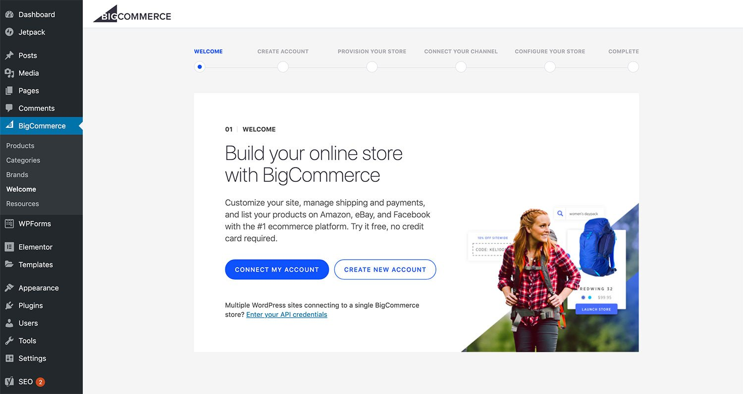 Connect to your BigCommerce account