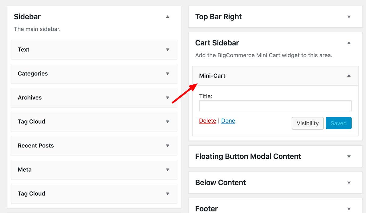 Cart Sidebar Widget