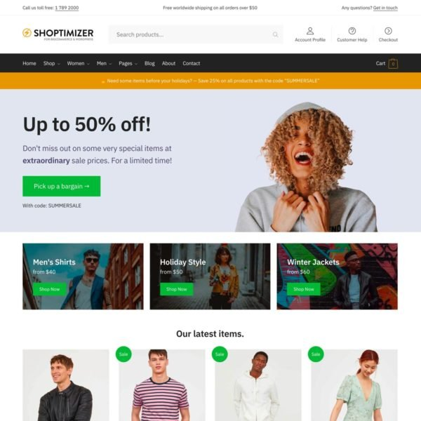 Shoptimizer for BigCommerce for WordPress Screenshot