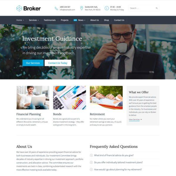 Broker WordPress Theme