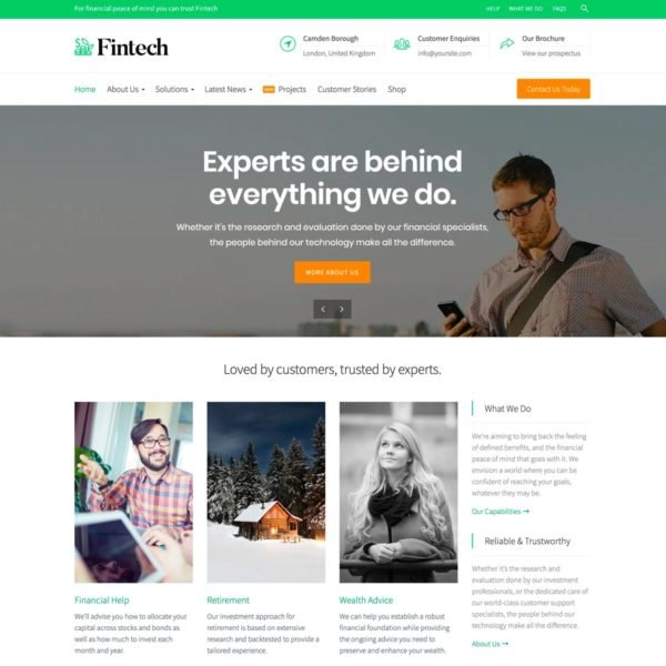 Fintech WordPress Theme