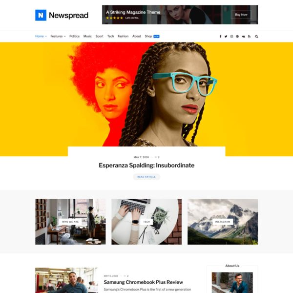 Newspread WordPress Theme