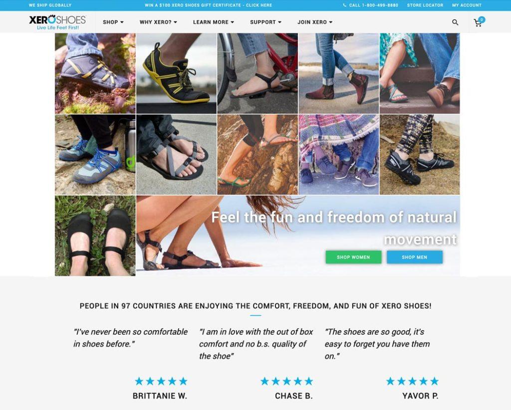 Xero Shoes Screenshot