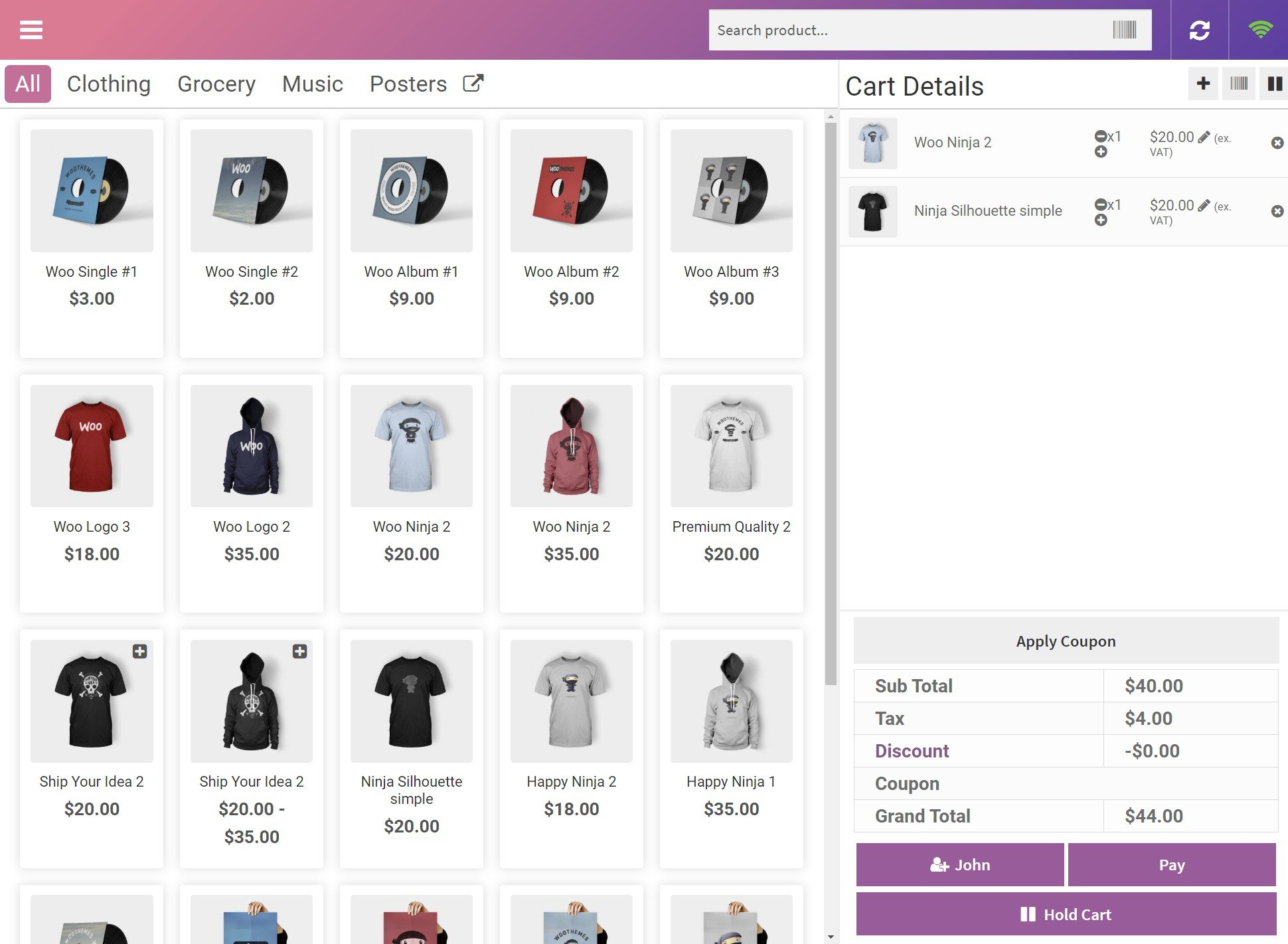POS plugin for WooCommerce