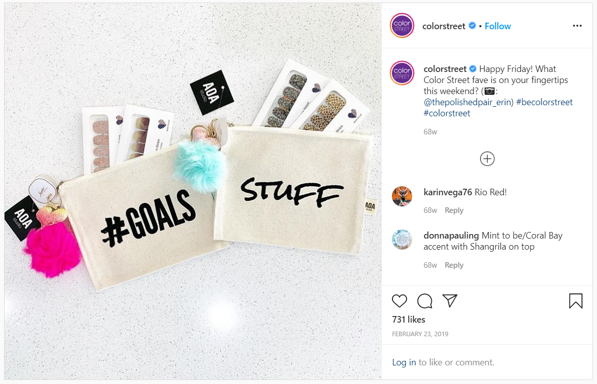 Color Street Instagram post