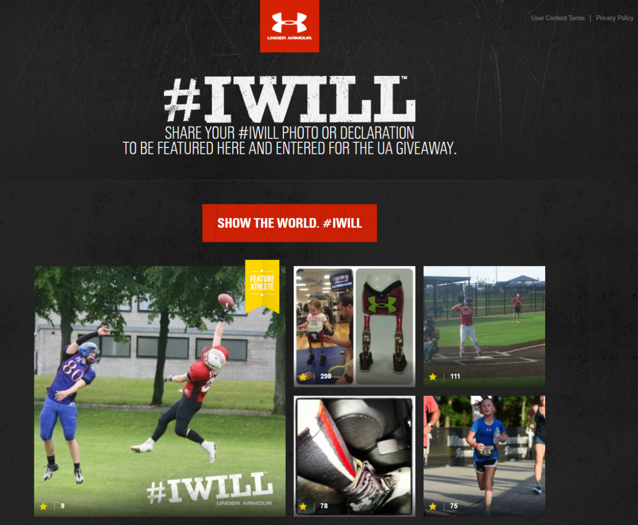 Under Armour sales page