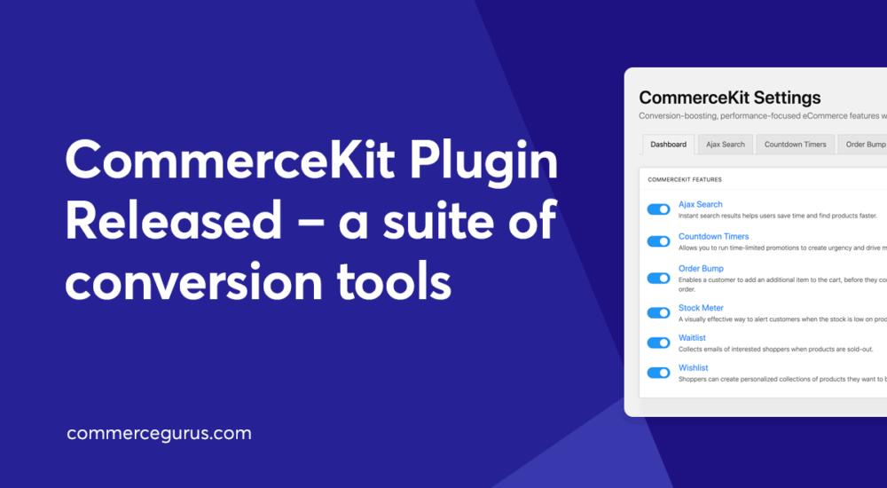 CommerceKit Plugin Released