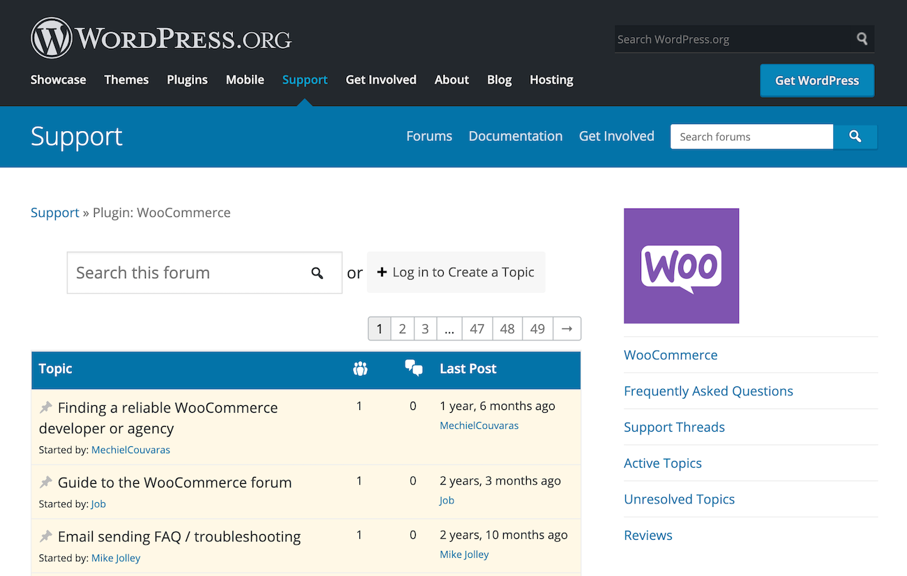 WooCommerce Forums