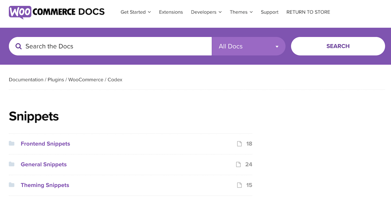 WooCommerce Snippets