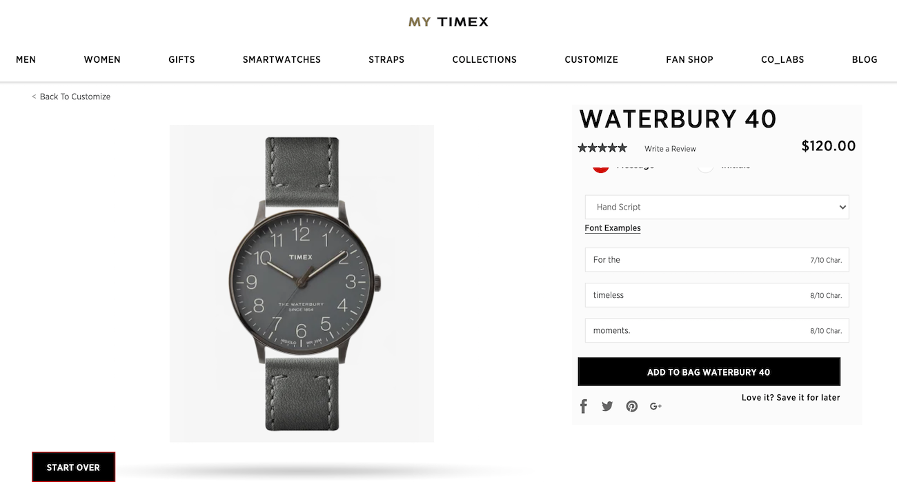 Timex product page