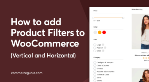 Add product filters to WooCommerce
