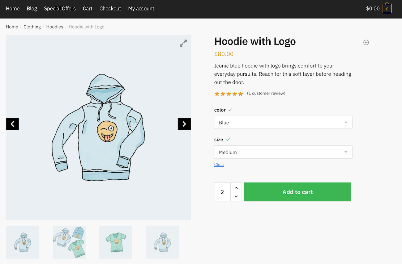 WooCommerce Product Gallery Slider preview