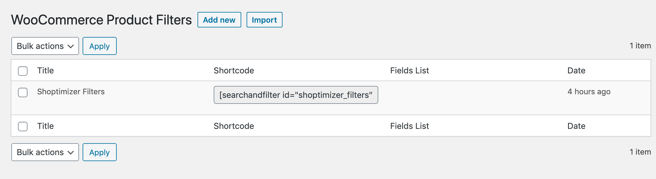 Naming your filters