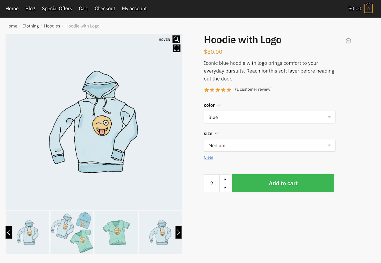 TP WooCommerce preview