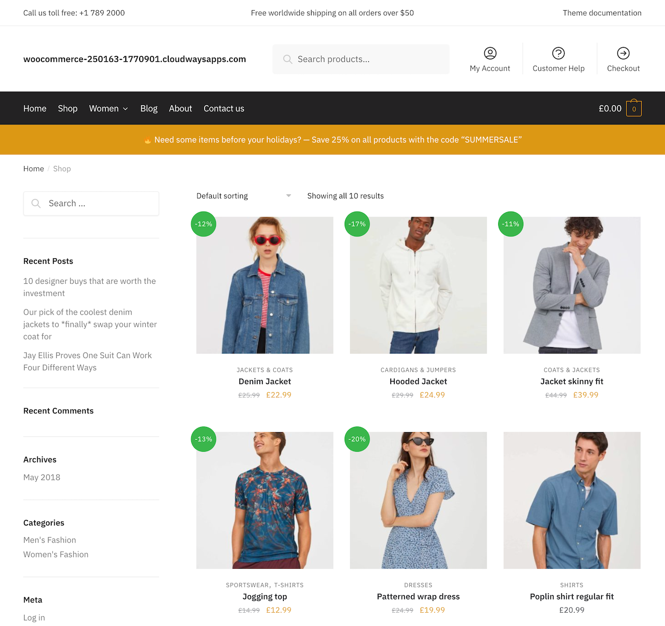 Shoptimizer shop page