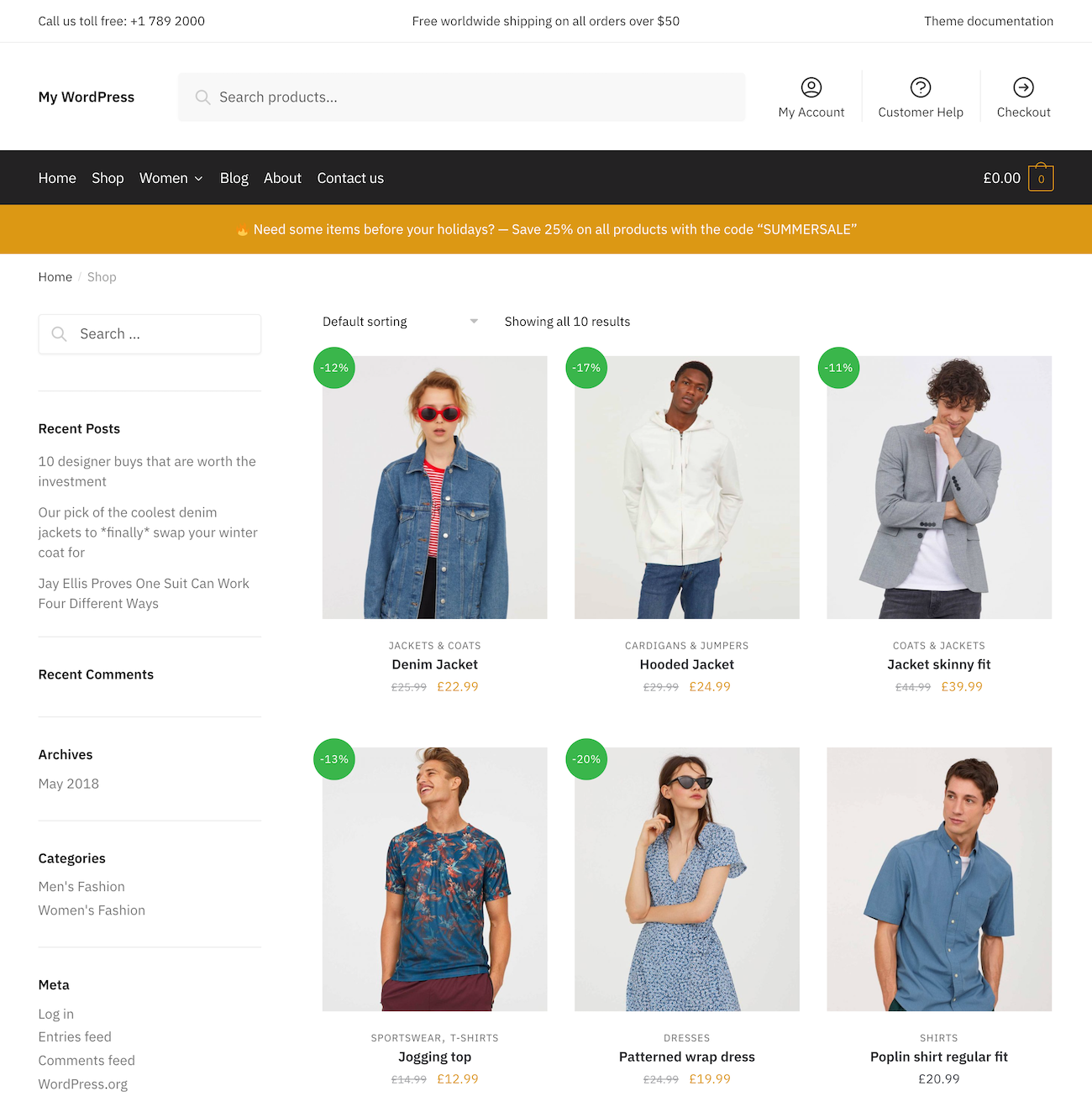 Shoptimizer shop page