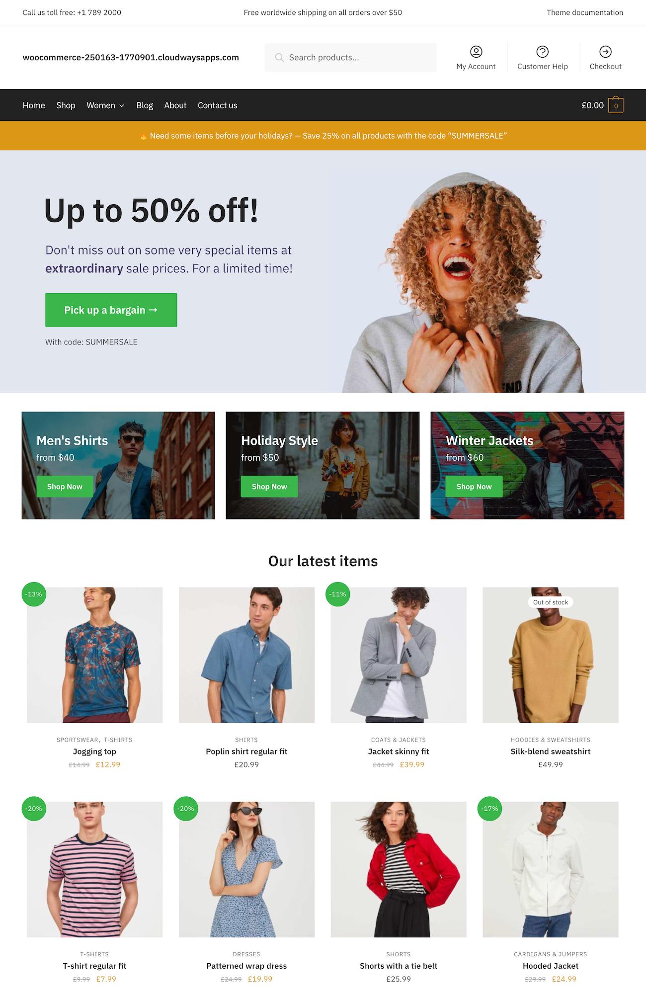 Shoptimizer homepage