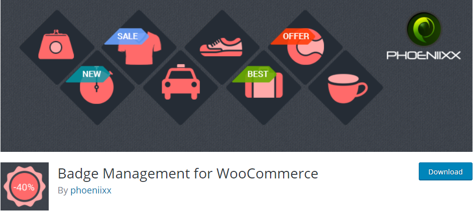 The Badge Management for WooCommerce plugin