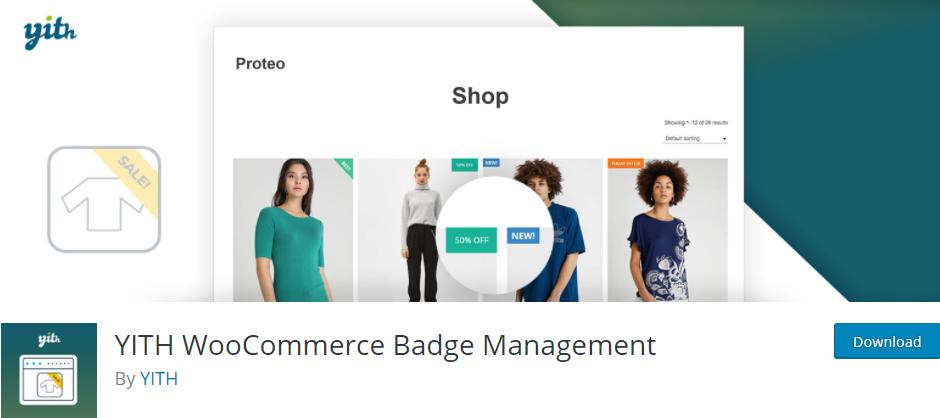 YITH badge management