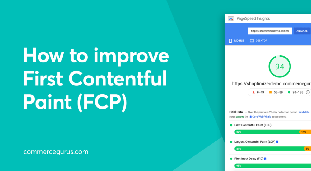 How to improve First Contentful Paint (FCP)