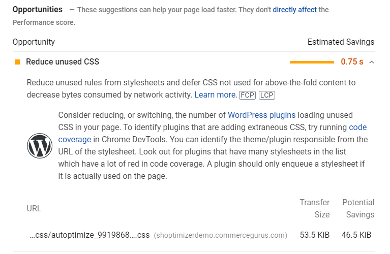 Remove unused CSS warning