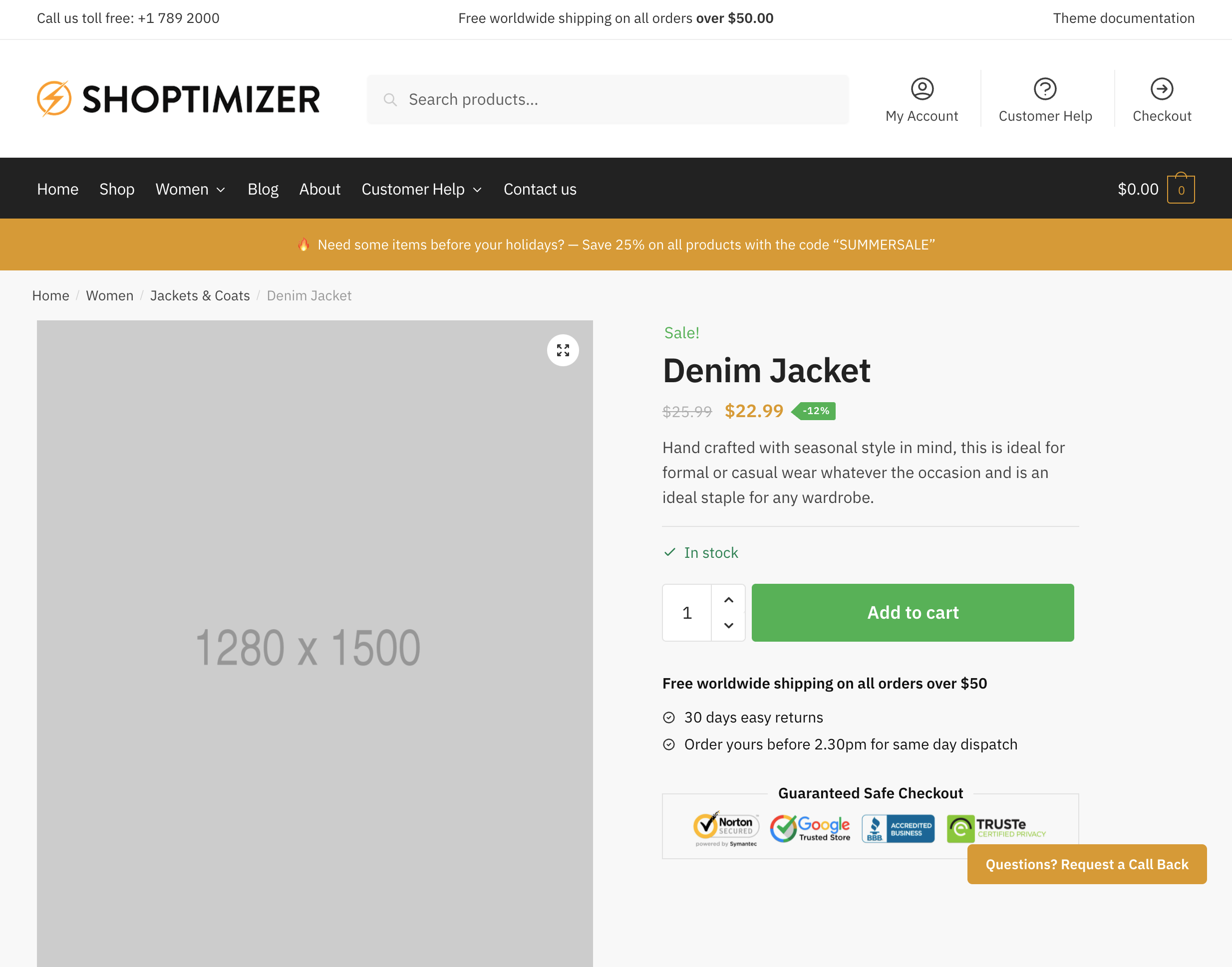 Single Product Page Result